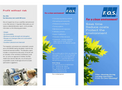 F.O.S. On-Line Cleaning Flyer Brochure