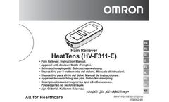 OMRON HeatTens - Model HV-F311-E - Pain Reliever - Manual