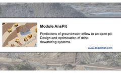 Predictions of groundwater inflow to an open pit [old] - Video