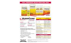 Hurricaine - Topical Anesthetic Gel – Strawberry - Brochure