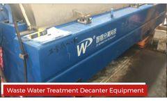 Wastewater Centrifuge - Sewage Sludge Dewatering Treatment - Video