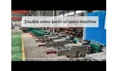 Double screw palm oil press machine, oil expeller machine for sale - Video
