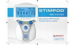 Stimpod - NMS 410/450X - Quantitative NMT Monitor Precision Nerve Locator - Brochure