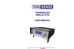 TorqSense - Model ETD - Display Transducer  Manual