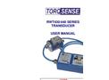 TorqSense - RWT430/440 Series - Torque Transducer User Manual