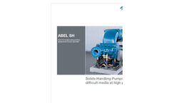 ABEL - SH - Solids Handling Pumps Brochure