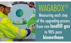 Wagabox 1: measuring biogas/landfill gas composition from the inlet to the outlet - Video