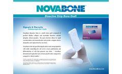 NovaBone - Bioactive Strip Bone Graft - Brochure