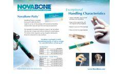 NovaBone - Bone Graft Substitute Putty - Brochure