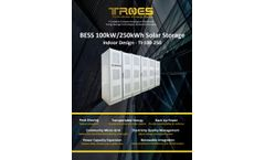 Troes - Indoor Battery Energy Storage Cabinet System  - Brochure