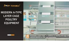 Modern A-type Layer Cage Poultry Equipment - RETECH Farming TIANRUI Chicken Cage - Video