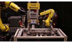 Robotic Arc Welding with Servo Robot Seam Tracking Process Control & FANUC ARC Mate 100iD Robot - Video