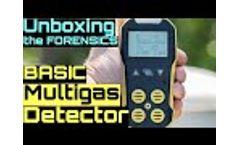 Basic Multigas Detector 4 Gas Monitor - Video