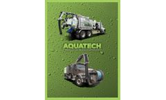 Aquatech - Model F-Series - Front-mounted Hose Reel Combination Sewer Cleaner - Datasheet