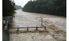 Water monitoring technology for flood warning areas