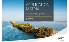 Comprehensive Application Matrix for Surface Water Quantity Monitoring