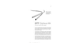 OTT Orpheus Mini Groundwater Datalogger - Leaflet