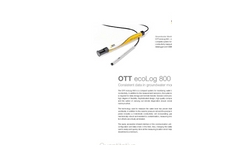 Groundwater Datalogger With Conductivity Measuring Cell and Integrated GSM/GPRS Unit OTT ecoLog 800 - Leaflet