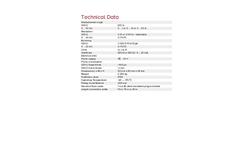 OTT SE 200 Float-Operated Shaft Encoder Water Level Sensor - Technical Data