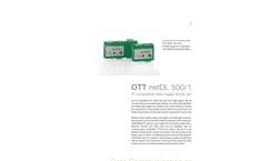 OTTnetDL 500/1000 IP Compatible Data Logger - Brochure