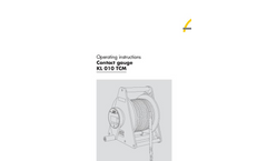 Contact Gauge KL010TCM - Operating Instructions