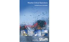 Lufft - Weather Critical Operations (EN) - Brochure