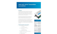 Sutron - Model SatLink 3 XMTR - Satellite Transmitter - Leaflet