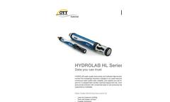 OTT Hydrolab - Model HL7 - Multiparameter Sonde - Brochure
