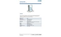 Adcon - Model RG1 - Rain Gauge, 200cm2, 0.2mm - Technical Datasheet