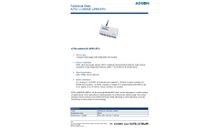 Aadcon - Model A753 addWAVE GPRS RTU - Compact Data Logger With Integrated Cell Modem - Datasheet