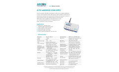 Aadcon - Model A753 addWAVE GPRS RTU - Compact Data Logger With Integrated Cell Modem - Brochure