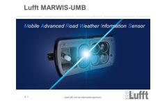 Lufft Academy: MARWIS in Action - Applications with the Mobile Road Sensor - Video