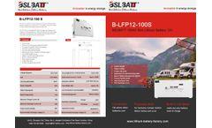 BSLBATT - Model 100Ah - 12V Slim Lithium Battery - Brochure