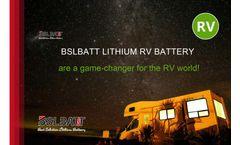 BSLBATT - Model 36V 200AH - Lithium Deep Cycle RV Battery - Brochure
