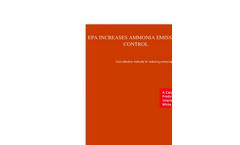 EPA Increases Ammonia Emissions Control