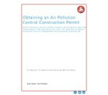 How to Obtain an Air Pollution Construction Permit Infographic