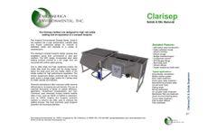 Pan America Environmental - Model Clarisep Series - Clarifiers - Brochure