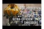 RDF production with ultra-efficient the XR-class shredders - Video