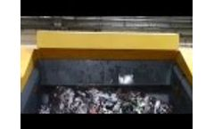 XR3000C shredding solid waste from footware production