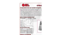Model CTS-M5 Series - Toxic Gas Transmitter/Sensors Brochure
