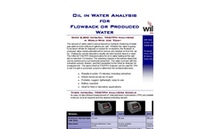Oil in Frac Water Measurements - Brochure