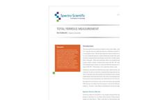 Total Ferrous Measurement - Application Note