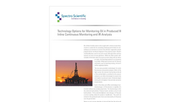 White Paper - Technology Options for Monitoring Oil in Produced Water – Inline Continuous Monitoring and IR Analysis