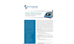 Spectro - Model InfraCal 2 ATR-B - Biodiesel Blend Analyzer - Datasheet