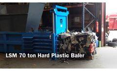 H70 Horizontal Baler bailing Hard Plastic - 450KG BALE!! - Video