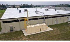 Regenerative Thermal Oxidizer (RTO) Installation- Drone Footage - Video