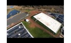 Aerial of Gas Collection Covers at Large Potato Processing Plant