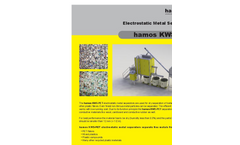 hamos - Model KWS-PET - Metal/PET Electrostatic Separators - Brochure