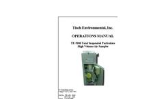 TE-5000 - TSP (Total Suspended Particulate) High Volume Air Sampler Manual