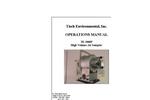 Handi-Vol - TE-2000PS and TE-2000P - Industrial Hygiene Air Sampler Manual
